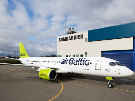 Airbaltic остановил  рейсы насамолетах Bombardier СS300 из-за дефекта моторов