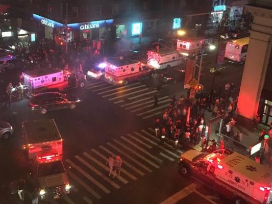 Момент взрыва вНью-Йорке попал накамеры наружного наблюдения